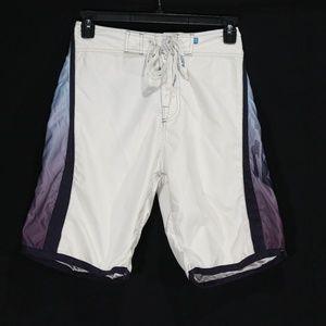 Rusty Boy's White Board Shorts - Size 28